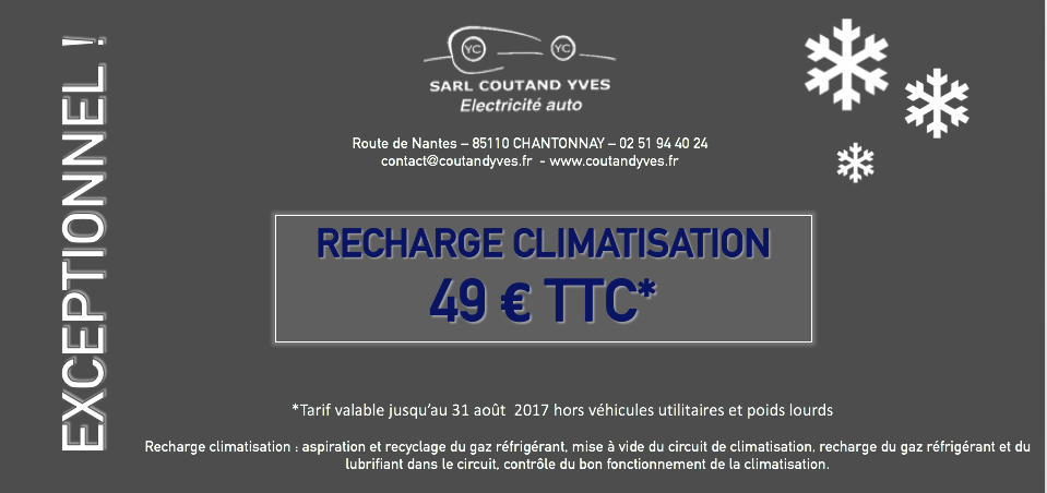 garage coutand yves chantonnay vendee recharge climatisation 49 euros coutand yves. Black Bedroom Furniture Sets. Home Design Ideas